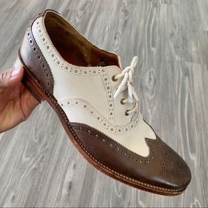 Grenson Oxford Brogue Wingtip Leather Shoes